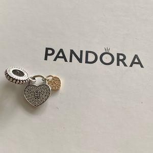Pandora Two Tone Love Locks Charm
